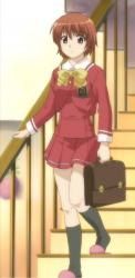 Hazumu first time in school uniform