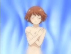 Hazumu covering breasts