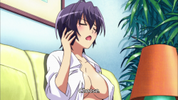 Kanade as a girl talking to God on the phone
