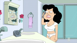 Stan looking in the mirror after turning into a woman