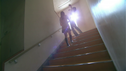 Yamada and Shiraishi fall down the stairs and swap bodies