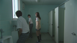 Yamada in Shiraishi body in the mens toilets