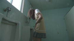 Yamada checks down his skirt